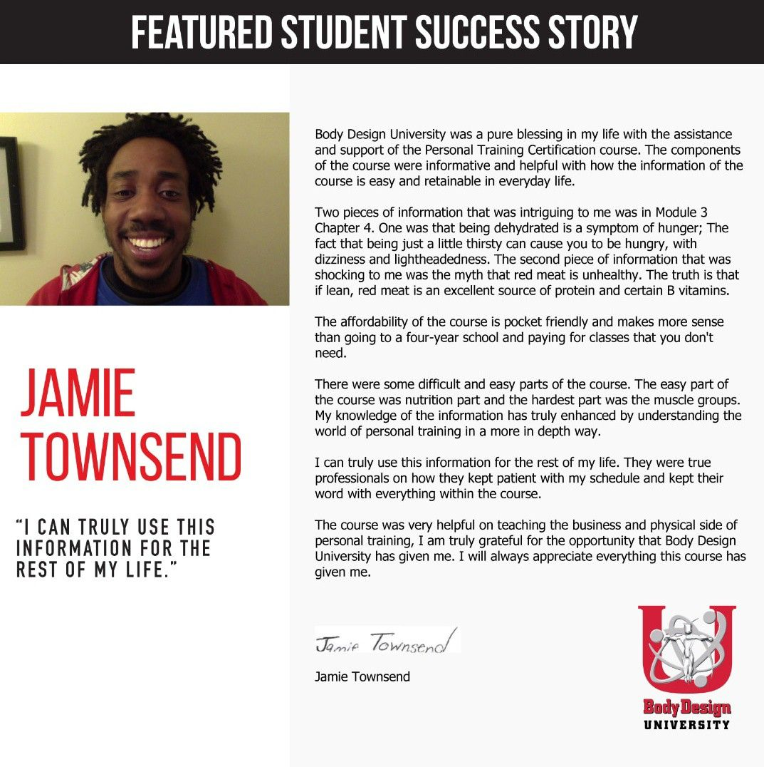 27 Best Student Testimonials Images Certificate Personal Trainer