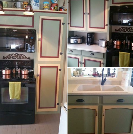 Kitchen cabinets get a colorful facelift with Olde Sage ... - photo#15