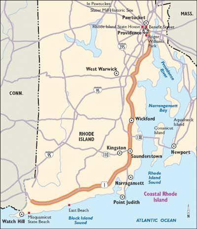 Rhode Island Scenic Drives Coastal