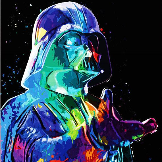 Star Wars Abstract Painting Star Wars Art Abstract Art The