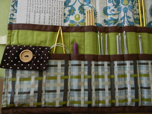 Knitting Needle Crochet Hook Roll Up Tutorial Fiber Knitting