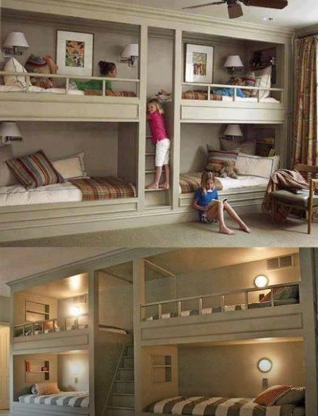 Cool room idea if you have multiple kids   Home decor.   Pinterest ...