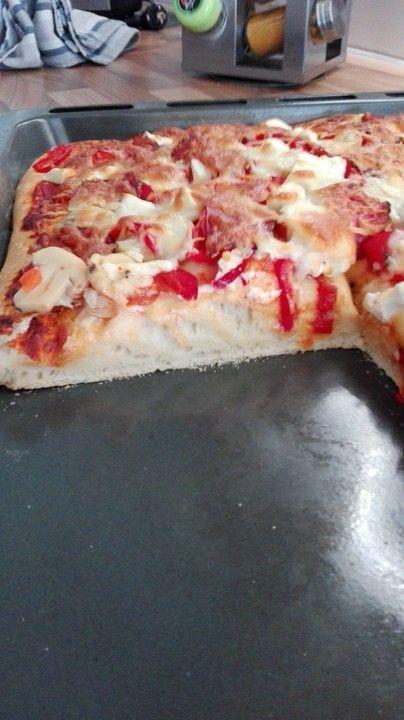 Pizzateig luftig und locker #pizzateigmittrockenhefe