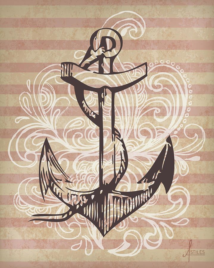 Anchor Canvas Print Art By Adrienne Stiles