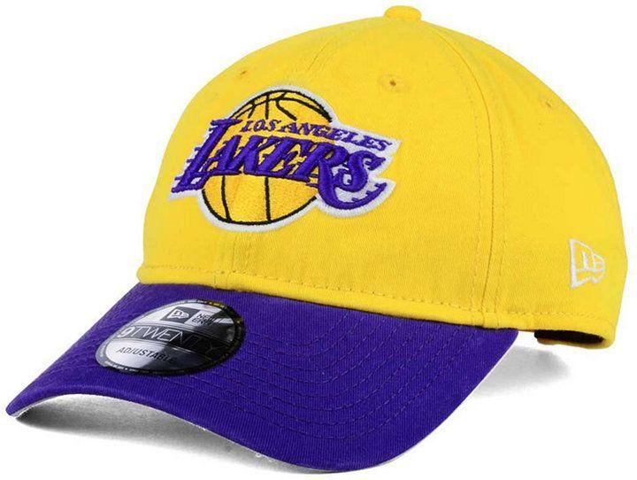 newest 51ae0 82b4a New Era Los Angeles Lakers 2 Tone Shone 9TWENTY Fitted Cap