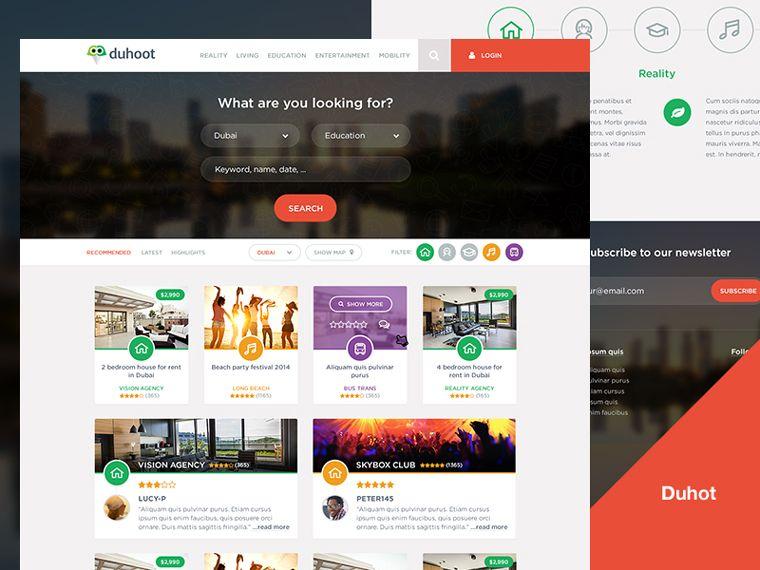 Duhoot Portal Psd Landing Template Best Psd Freebies Psd Template Free Free Psd Photoshop Freebies