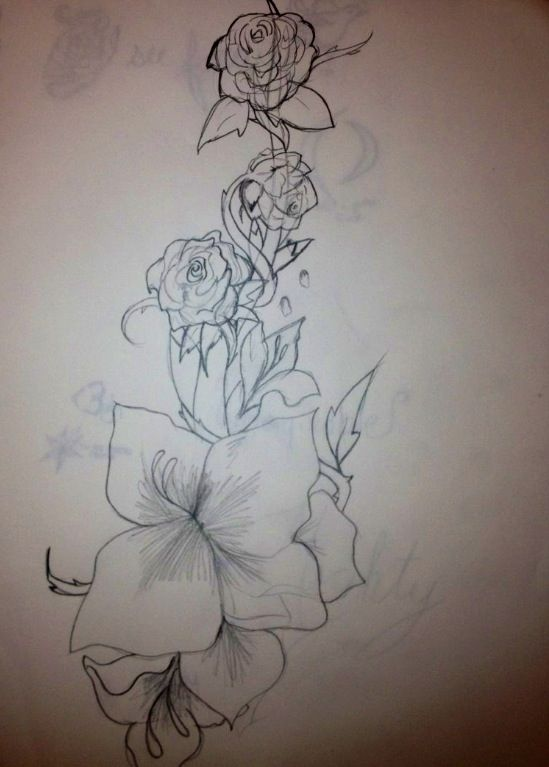 Gladiolus And Roses Intertwined Tattoo Design Change Roses To Violets Beauty Tattoos Gladiolus Tattoo Tattoo Designs