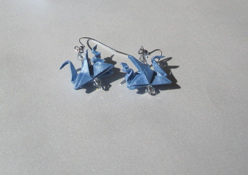 Origami Dragons Earrings made by ArsOrigami - if you like it, like us https://www.facebook.com/ArsOrigami