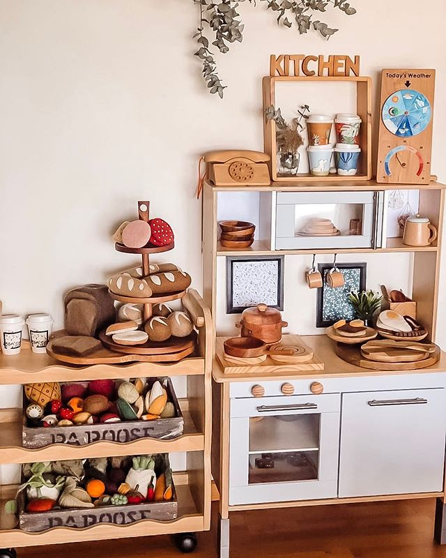 """☼ Nature Inspired Play ☼ on Instagram: """"Play kitchen goals right here"""