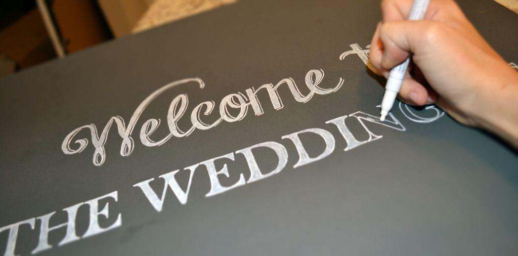 Diy Chalkboard Wedding Signs A Simple Hack Chalkboard Wedding