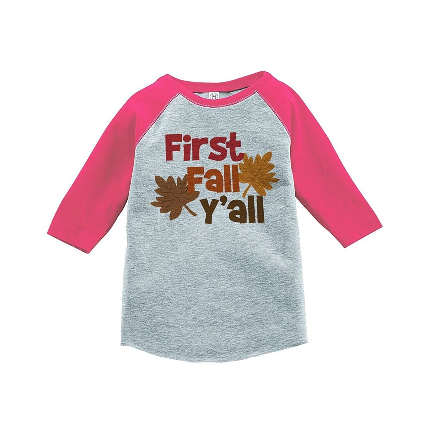 e58c8927a Custom Party Shop Baby s First Fall Y all Pink Raglan