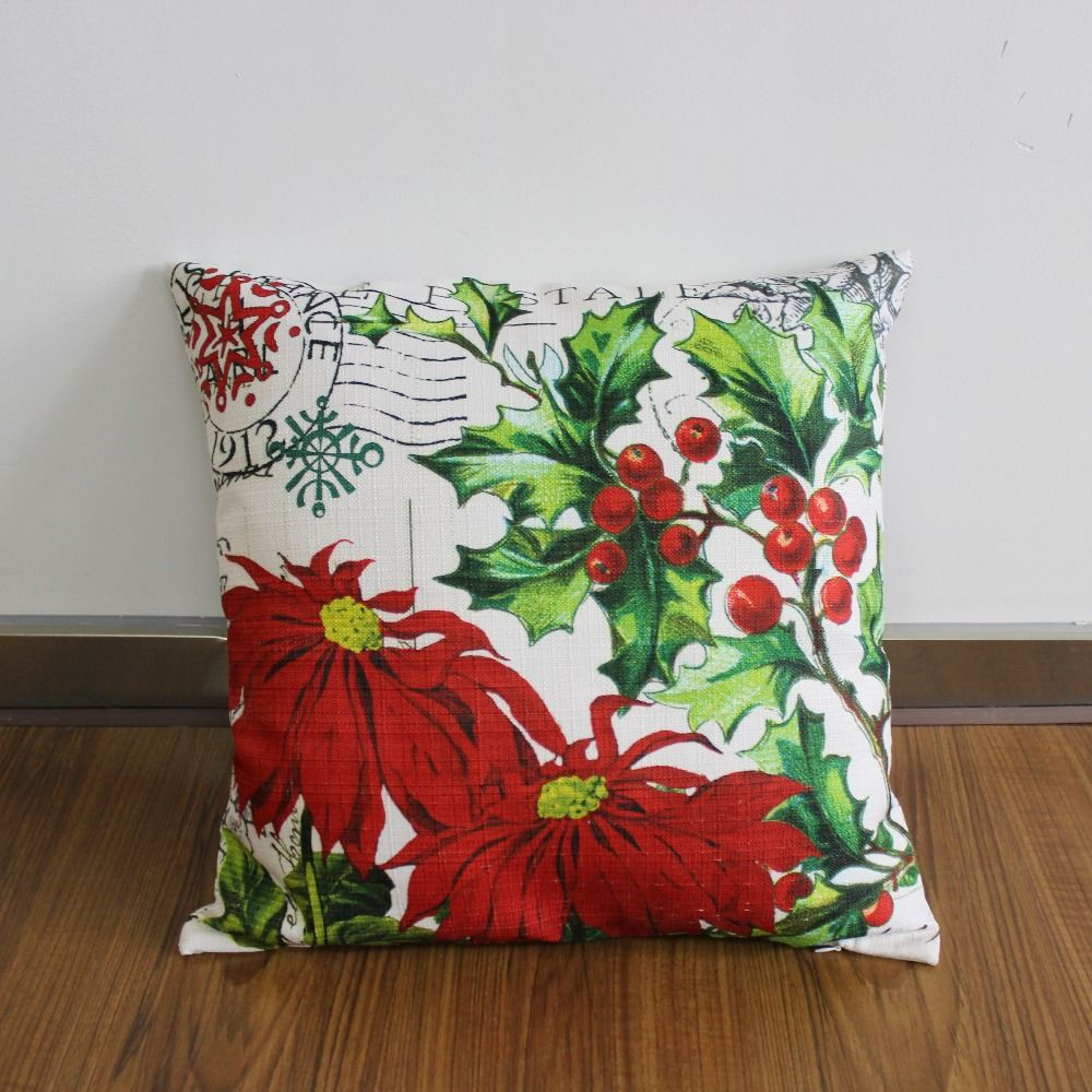 Vezo home pcspack print merry christmas sledge holly floral sofa