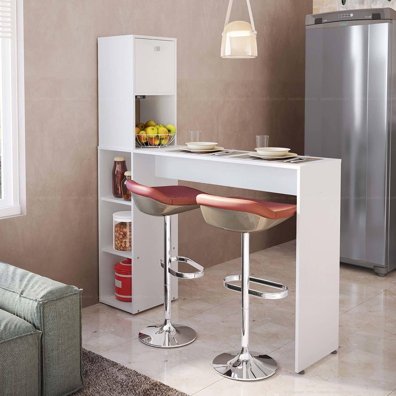 Balc O Ilha Com Banquetas Para Substituir A Mesa De Cozinha  ~ Banqueta Inox Para Cozinha Acozinha Com Cooktop Branco