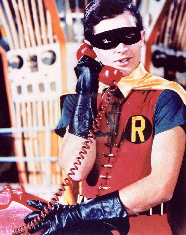 Burt Ward as Robin in the'Batman' TV series.