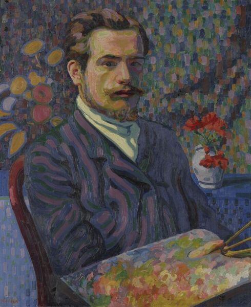 Auguste Herbin (Fr. 1882 - 1960) Self portrait