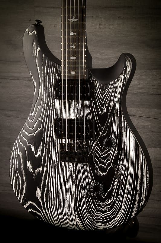 PRS SE Custom 24 Swamp Ash Sand Blasted Frozen Charcoal #prsguitar