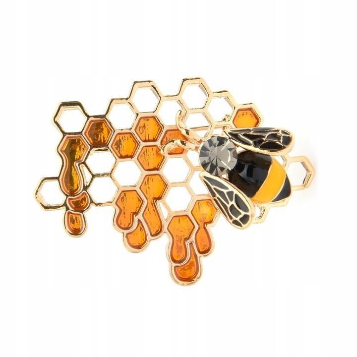 Lux Broszka Pszczola Plaster Miodu Pudelko 8502997441 Oficjalne Archiwum Allegro Brooch Charm Bracelet Gold Rings