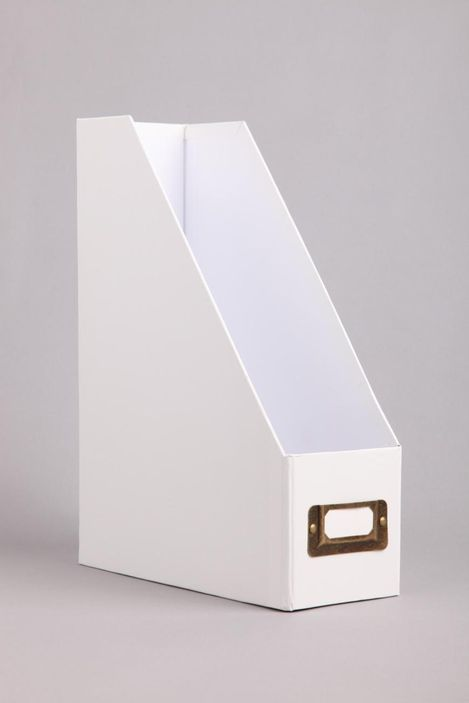 White Magazine Holder