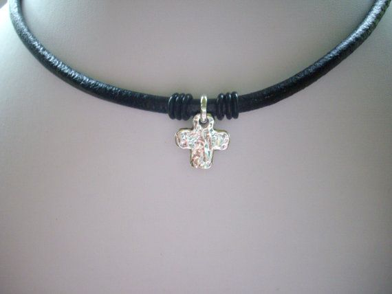 Sterling Silver Cross and Ring with Black by DesignsbyPattiLynn, $65.00