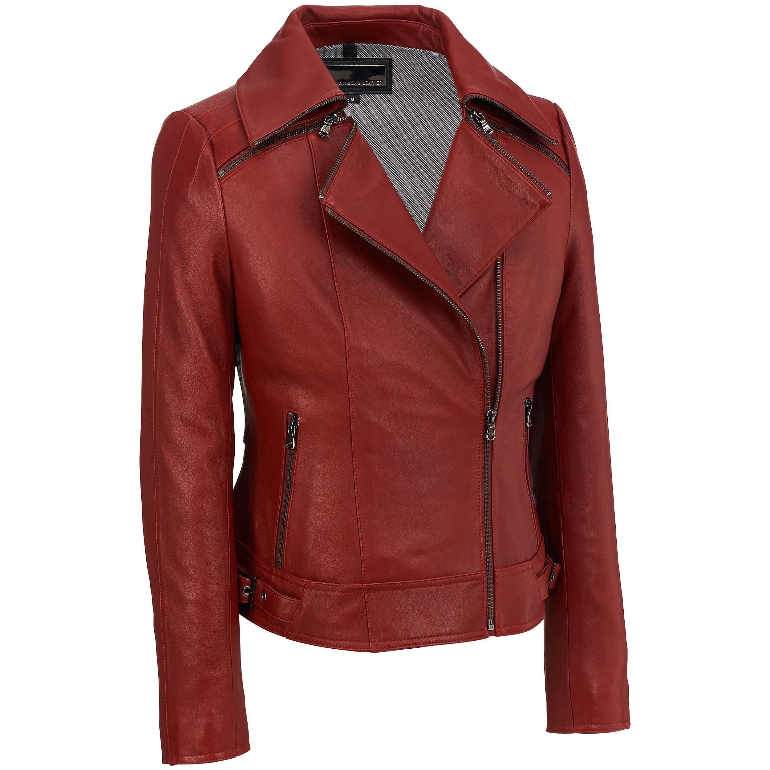 Wilsons Leather Zipper Collar Asymmetric Leather Cycle
