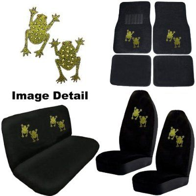 Frog Car Accessories Love Just The Floor Mats White Dragon Car Bling Combo Kit