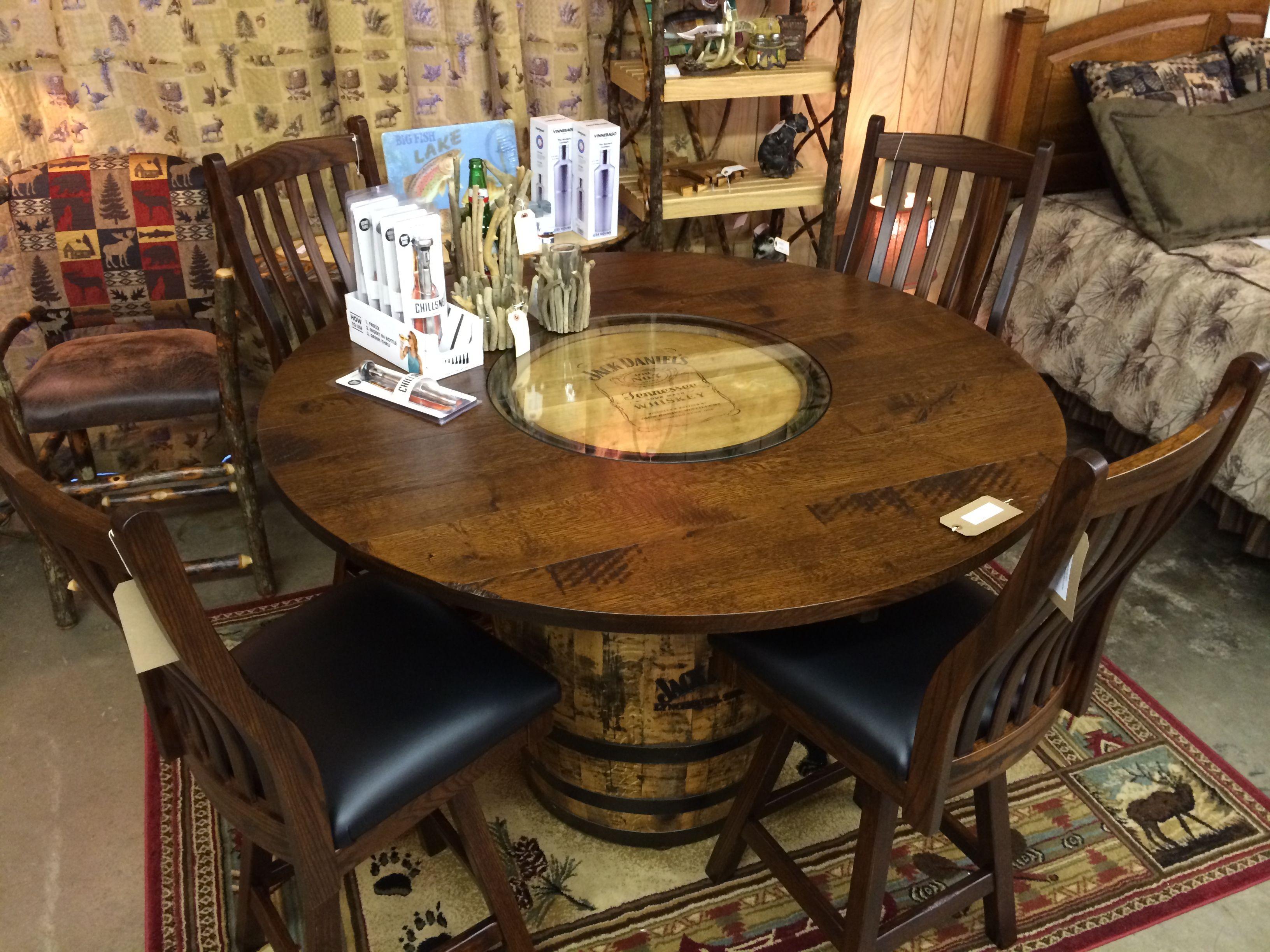Image Of Whiskey Barrel Table Diy