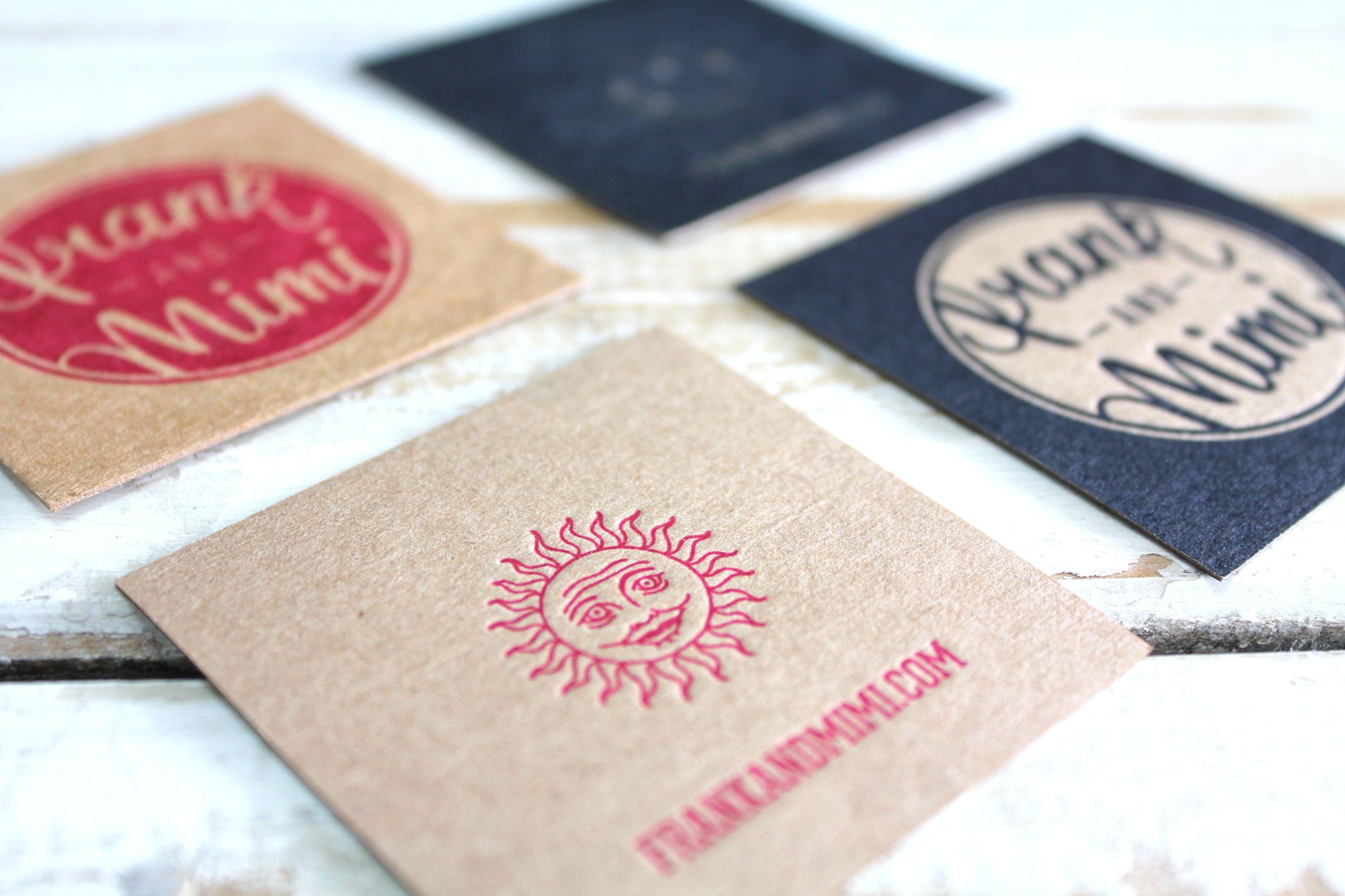 Little peach frank mimi letterpress a couple honorable little peach frank mimi letterpress business cardspeachtypofontslipsense reheart Image collections