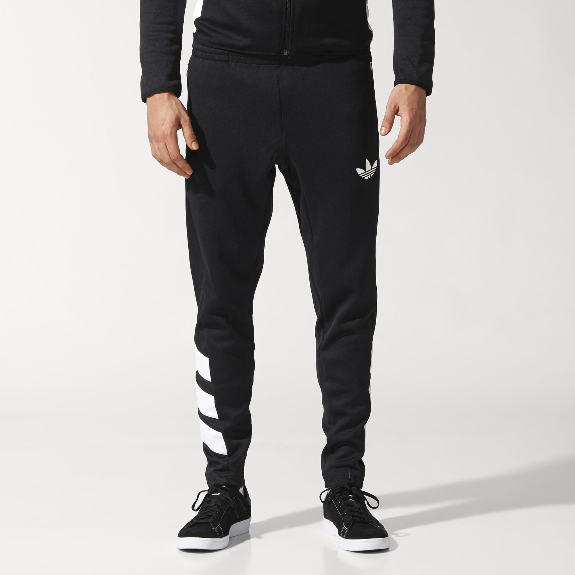 adidas originals trefoil jogging bottoms black