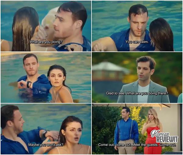 Sen Cal Kapimi You Knock On My Door Episode 4 Serkan Jump Into Swimming Pool To Save Eda Feeling Jealous Knock Knock Senate