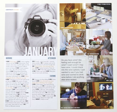 I'm doing a Day In The Life each month in 2013 as an add-in to Project Life. Here's a look at January. #projectlife