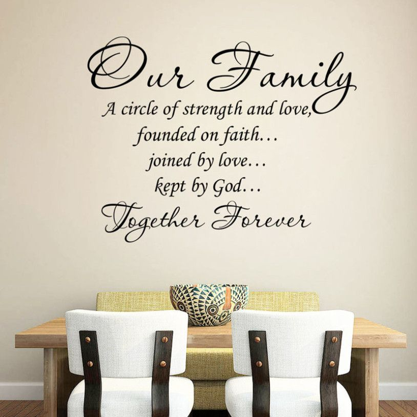Our Family Self Adhesive Wall Decal Family Wall Quotes Family Wall Wall Stickers Bedroom
