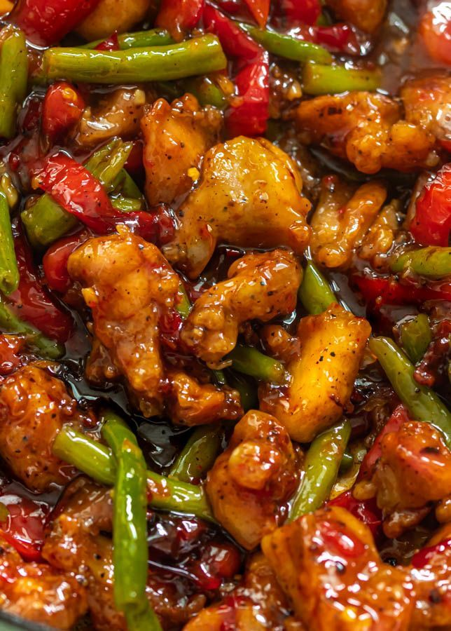 CHICKEN GREEN BEAN STIR FRY (WITH SWEET CHILI SAUCE)
