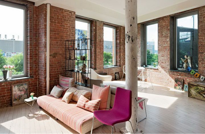 Love The Brick Walls And The Pink Accents! Gallery
