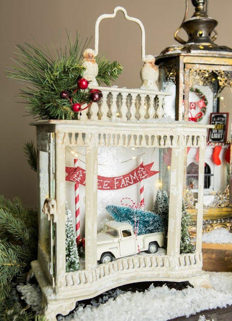 Laterne dekorieren weihnachten weihnachtlich laterne dekorieren weihnachtsbeleuchtung led kerze - Auto innen dekorieren ...