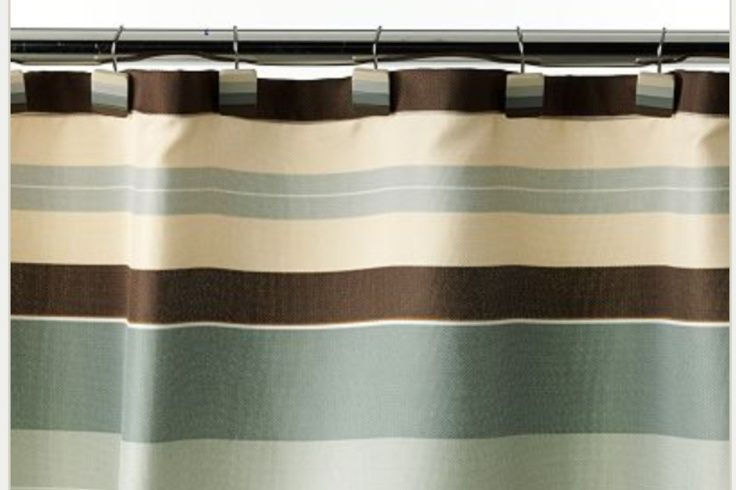 For The Home Bed Bath Fabric Shower Curtains Brown Shower Curtain Striped Shower Curtains