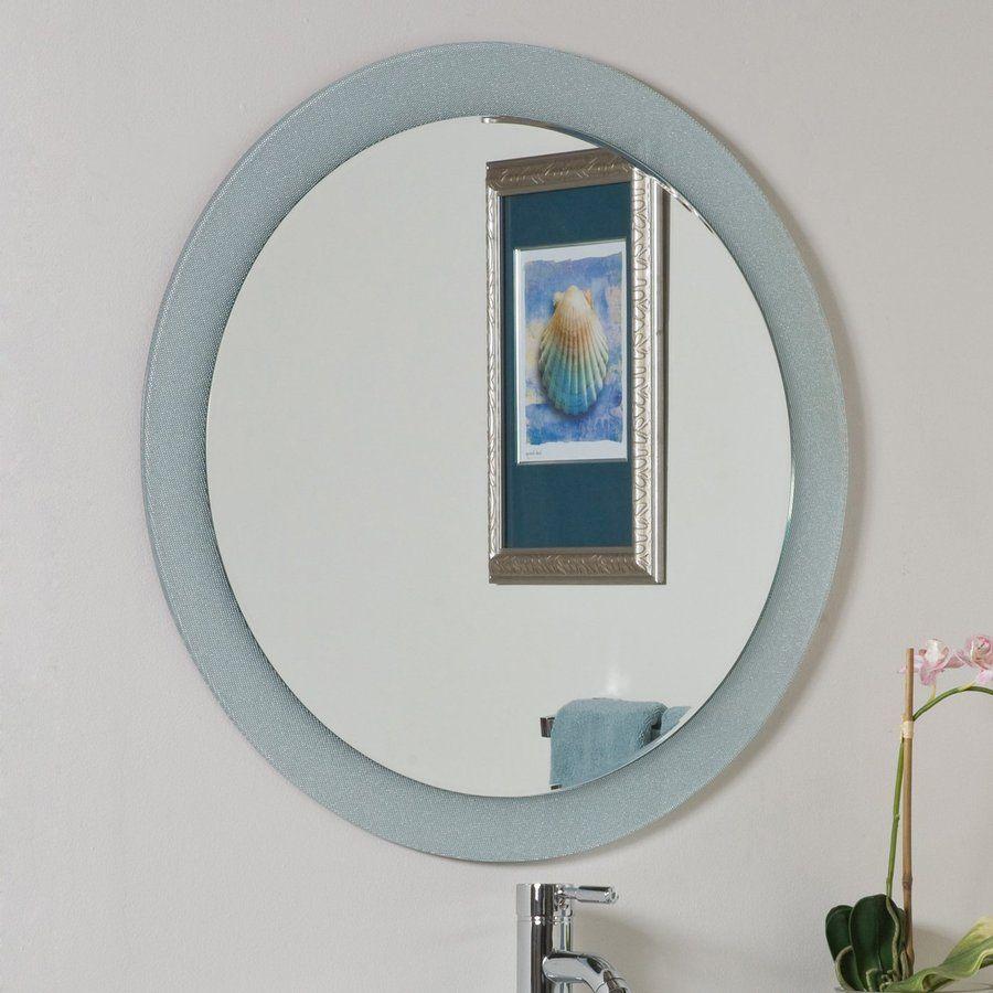 Photo Album For Website Decor Wonderland Zoe In W X In H Round Frameless Bathroom Mirror With Hardware And Beveled Edges Ssm