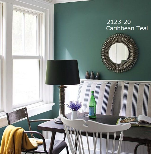 Aura 2123 20 caribbean teal 0 9l for the home - Benjamin moore aura interior paint ...