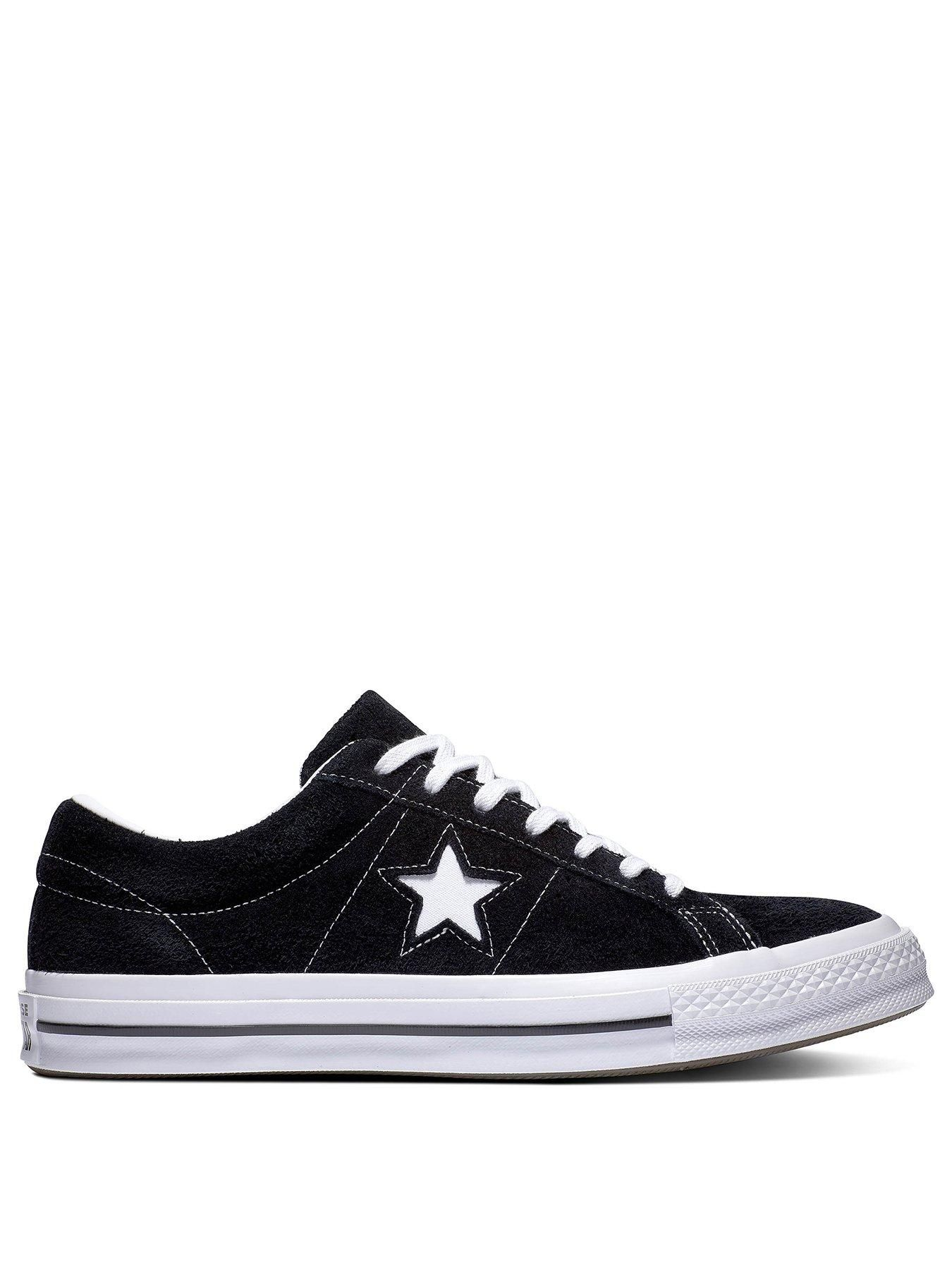 One Star Suede Ox Black | Converse one star, Converse, One