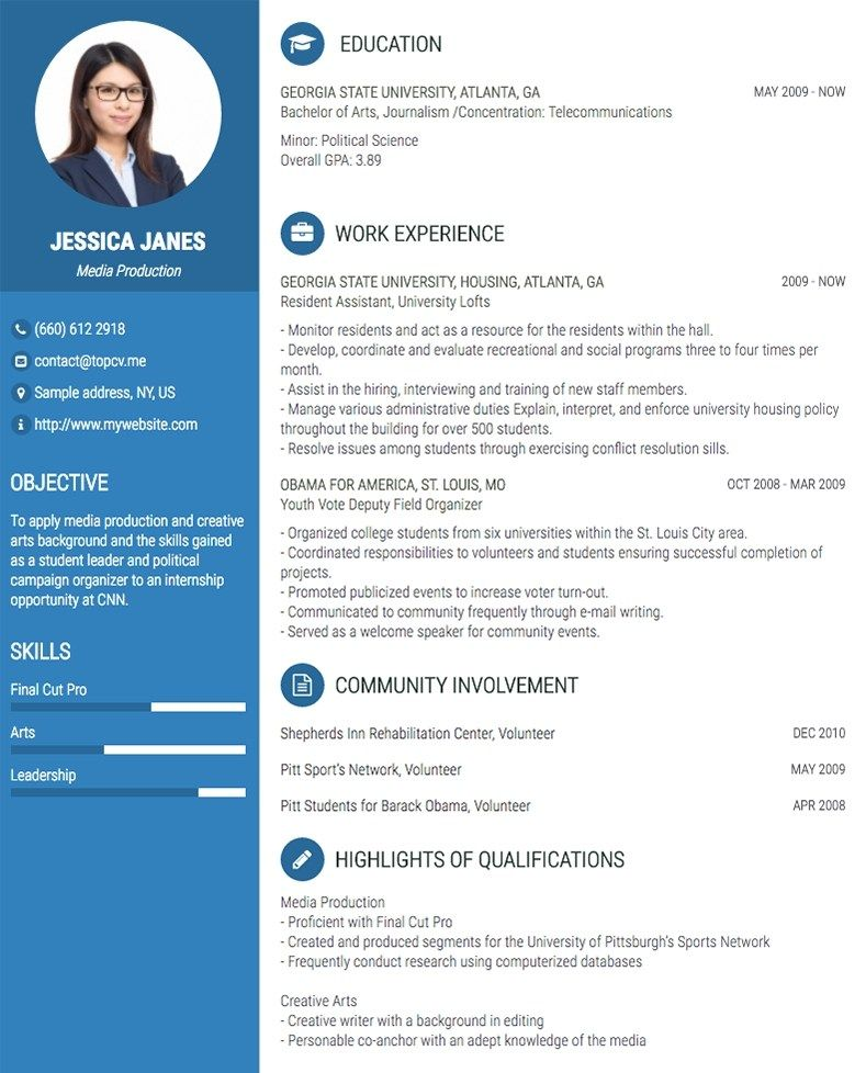 Professional Cvresume Builder Online With Many Templates Cv Template Free Resume Template Word Online Cv