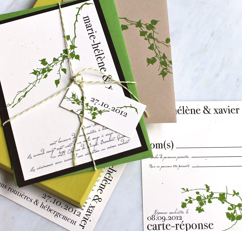 Green, Natural, Bakers Twine | invitations | Pinterest | Garden ...