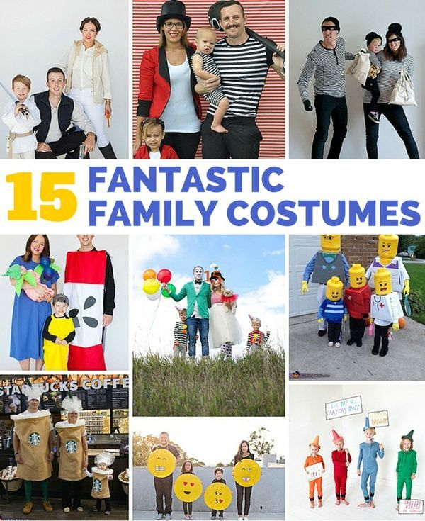 15 Fantastic Family Halloween Costumes That'll Inspire You to Dress Up With the Kids This Year. Even if you aren' t into costumes, these fun and easy family costumes may change your mind!