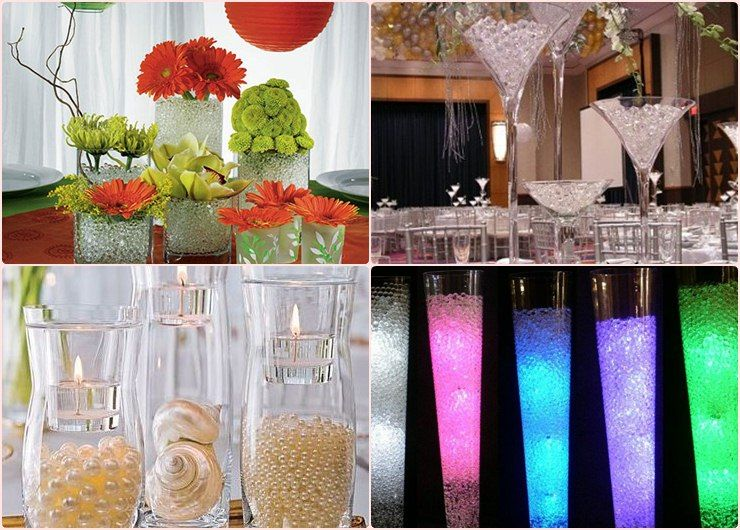 Wedding centerpiece ideas water diy wedding for Cheap decorating ideas for wedding reception tables