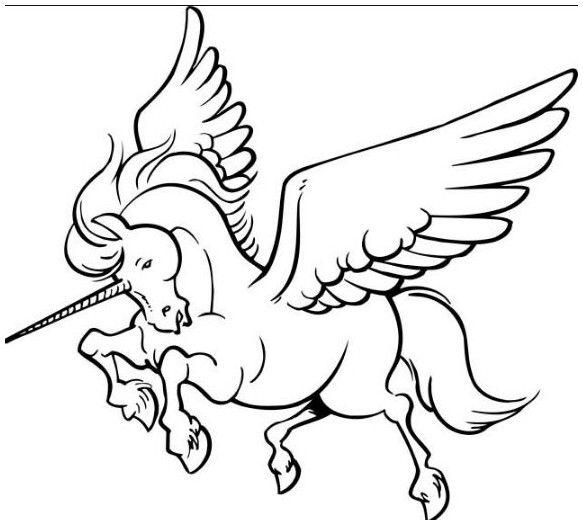 dibujos de unicornios para colorear gratis | Coloring Board ...