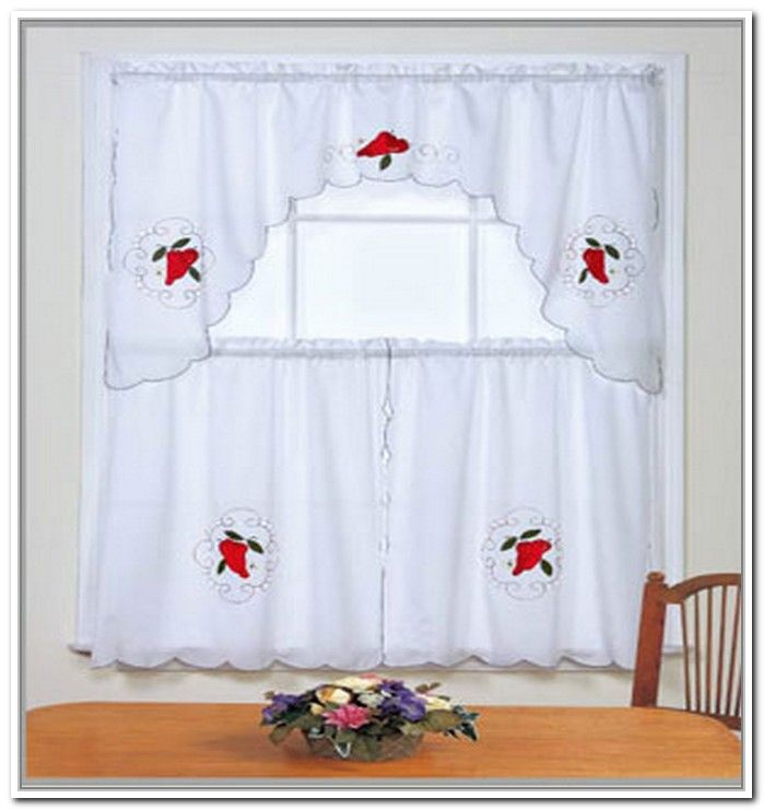 Chili Pepper Kitchen Curtains