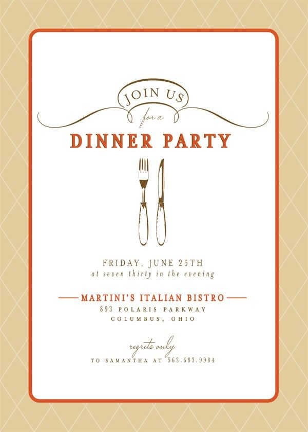 dinner party invitation | dinner party party invitations use vintage style to give your sleek ...