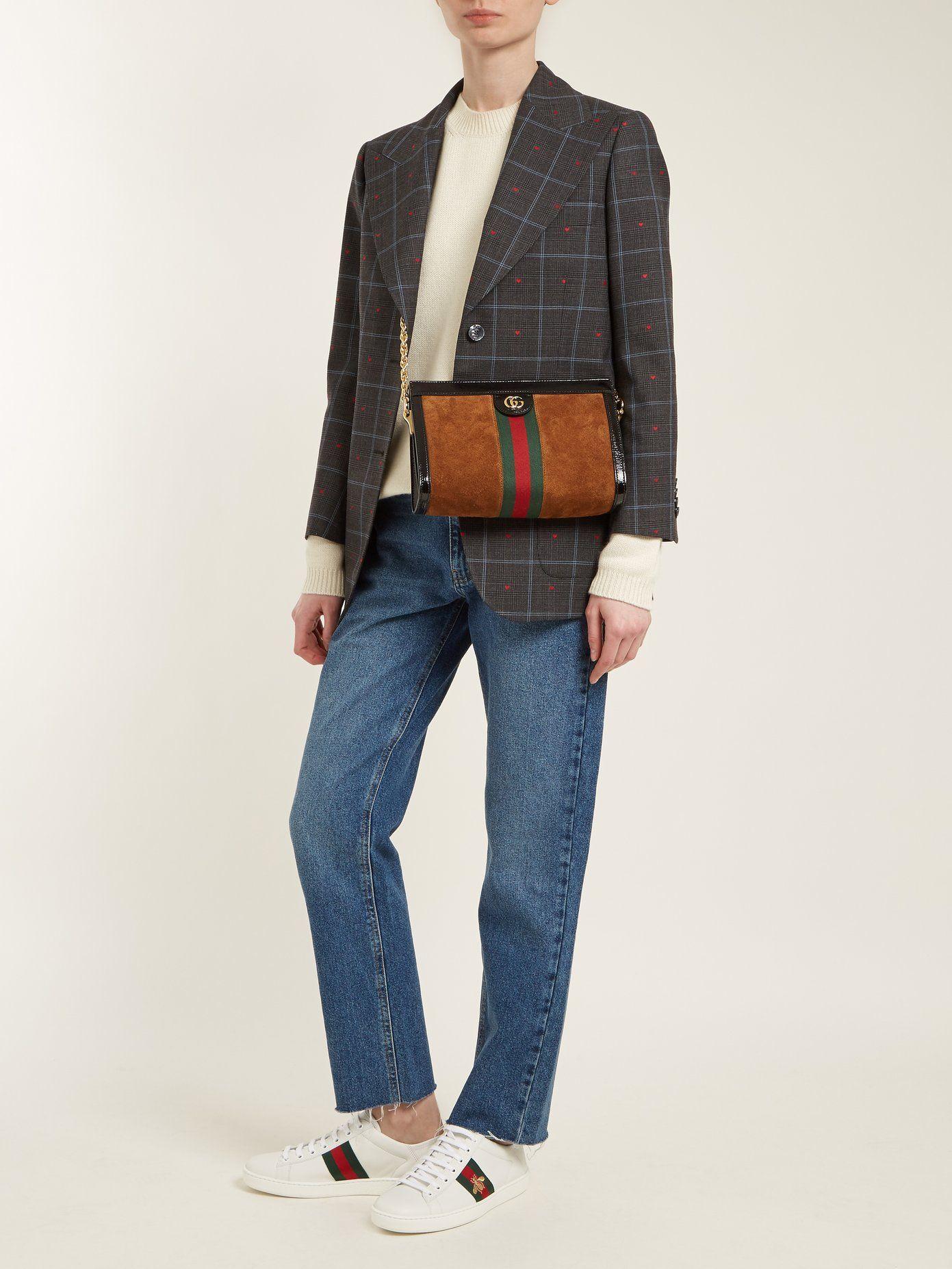 90b98904d9 Ophidia suede shoulder bag in 2019 | WEAR IT | Shoulder bag, Gucci, Bags
