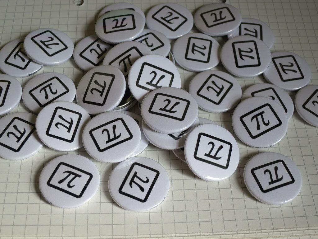 Maths Geek Pi Symbol Button Badges For A Maths Teacher To Give Out