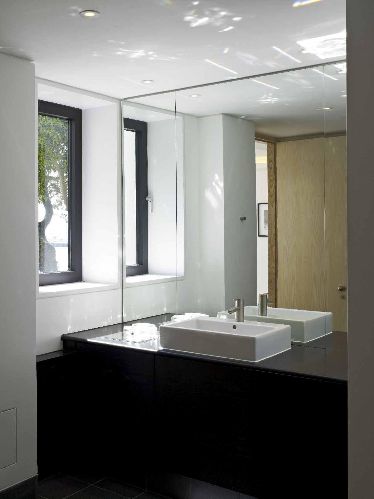 En Suite To The Master Suite With Black Ash Vanity Unit