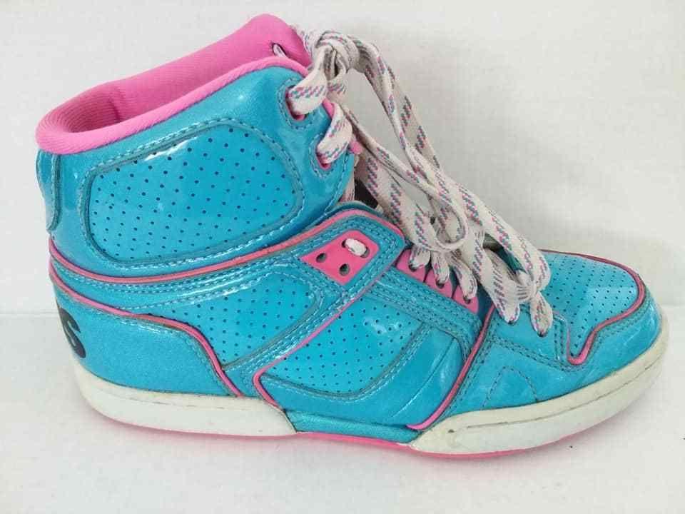 44d10727c2b323 Osiris Shoes NYC 83 SLM ULT GIRLS Blue Pink Women s SKATE Size 8  Osiris