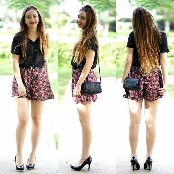 Short saia florido
